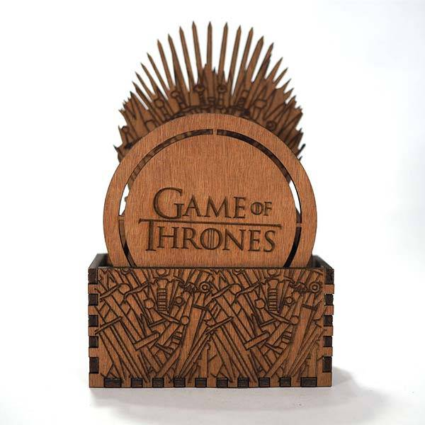 Handmade Game Of Thrones Drink Coasters With An Iron