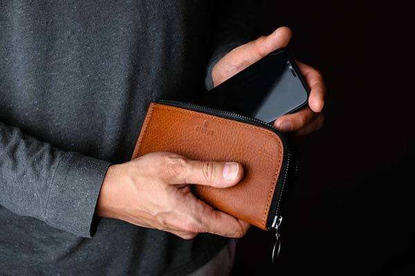 Handmade Leather Phone Wallet for iPhone X, iPhone 8 and More