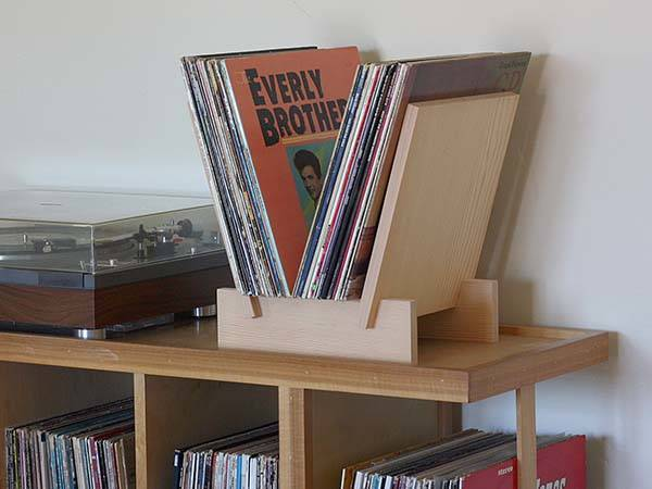 Handmade Wooden Vinyl Record Stand