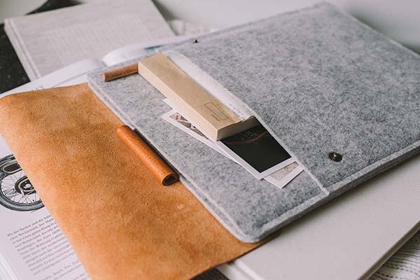 Handmade Wool Felt iPad Pro Sleeve