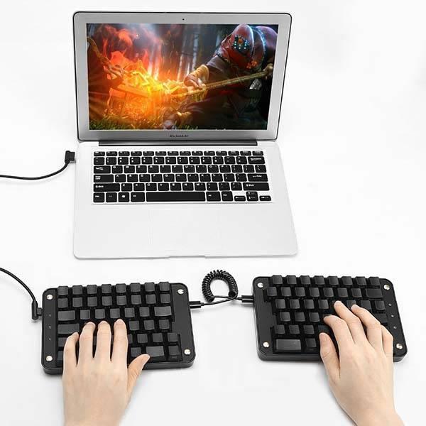 Koolertron Programable Split Mechanical Keyboard