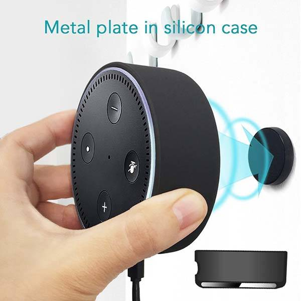 Magnetic Alexa Dot Mount Fits on the Wall and Car Air Vent