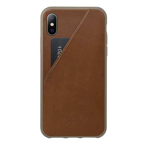 Native Union CLIC Card iPhone X Leather Case