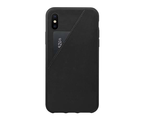 Native Union CLIC Card iPhone X Leather Case