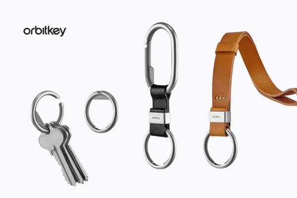 Orbitkey Keyring, Clip and Leather Strap