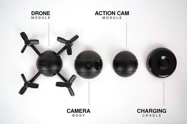 Pitta Autonomous 4K Selfie Drone Works as Action Camera
