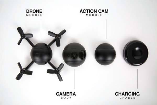 Pitta Autonomous 4K Selfie Drone Works as Action Camera