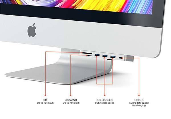 Satechi Aluminum Clamp iMac USB-C Hub Pro