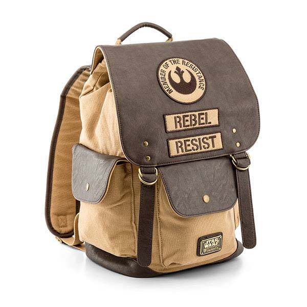 Star Wars Rebel Resist Leather and Canvas Backpack