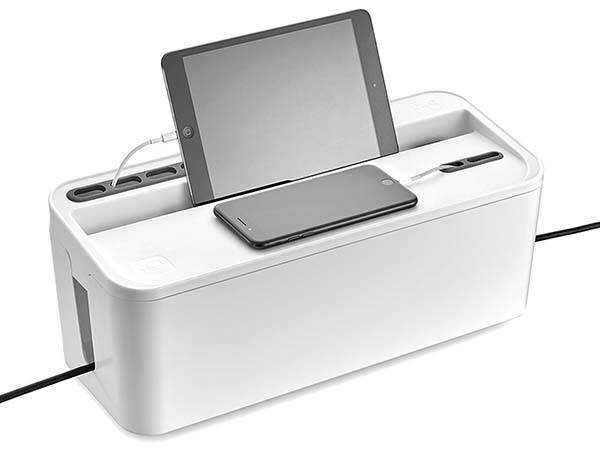 The Cable Management Box with Tablet and Phone Holder