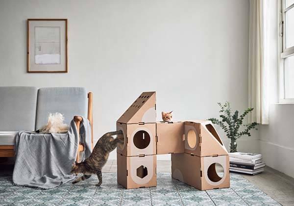 A Cat Thing Modular Cardboard Cat House
