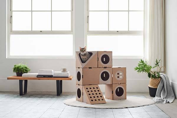 A Cat Thing Modular Cardboard Cat House