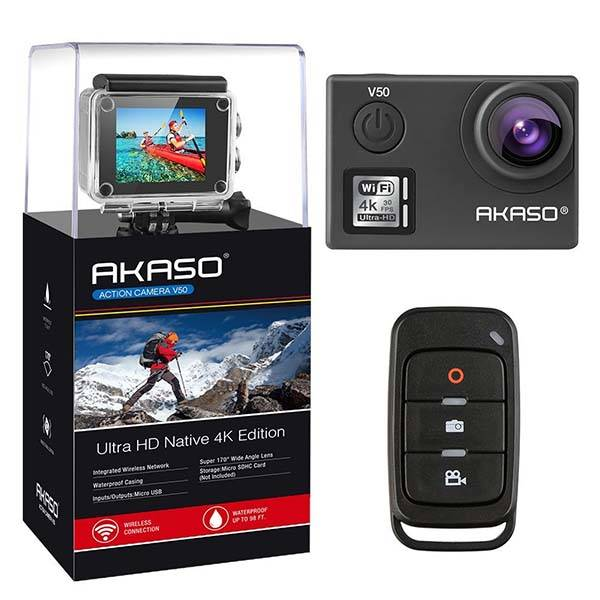 Akaso V50 4k Action Camera With 170 Degree Lens And Eis Gadgetsin