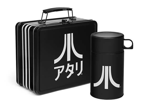 Atari Black Katakana Lunch Tin and Thermos