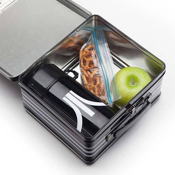 Atari Black Katakana Lunch Tin and Thermos
