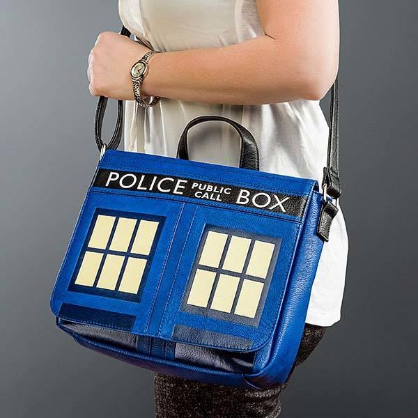 Doctor Who TARDIS Leather Messenger Bag