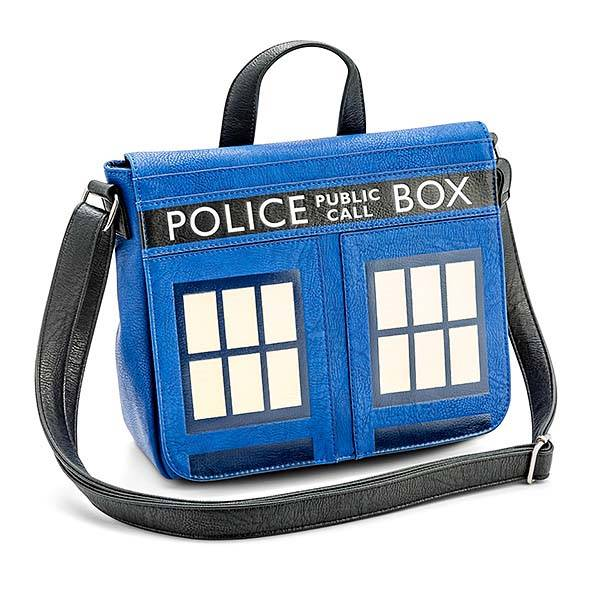 Doctor Who TARDIS Leather Messenger Bag