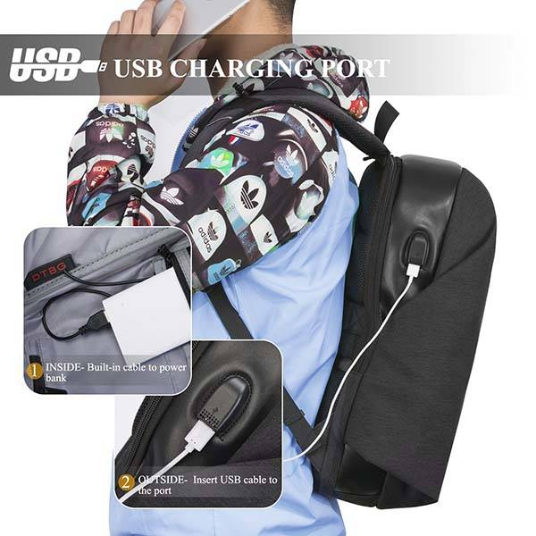 The Water Resistant Anti Theft Laptop Backpack with USB Port