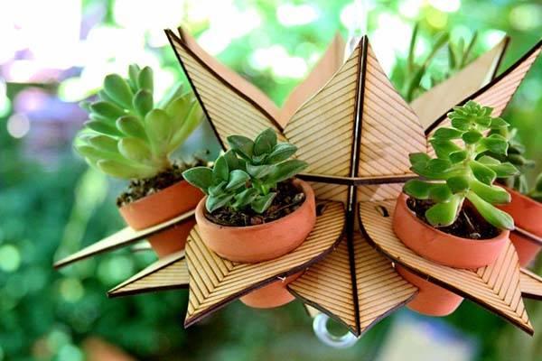 FlowerTower Handmade Hanging Planter