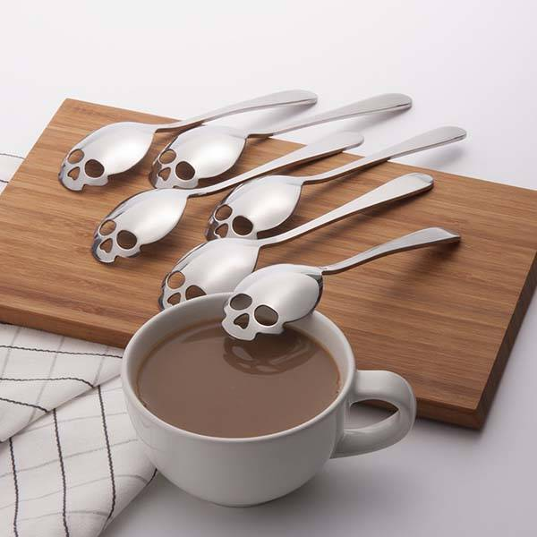 304 Stainless Steel Skull Sugar Spoon Set