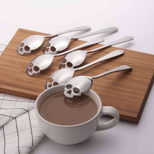 304 Stainless Steel Skull Sugar Spoon Set