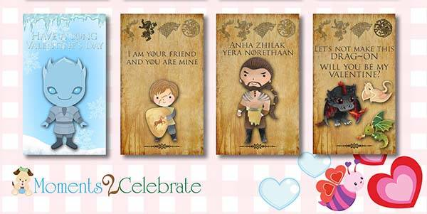Game of Thrones Valentines Day Cards