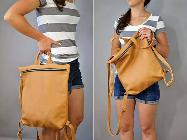 Handmade Laptop Ladies Leather Backpack