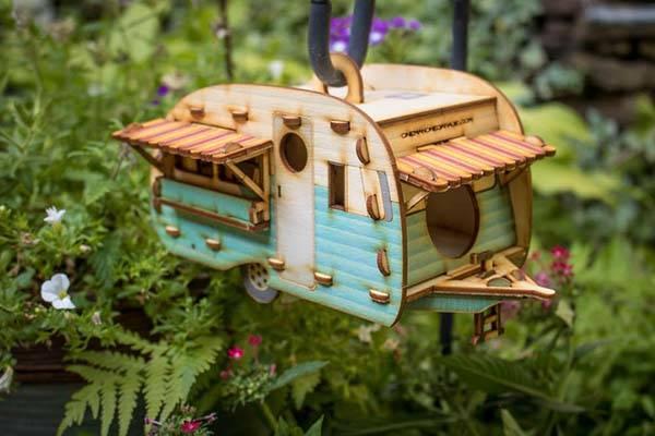 Handmade Vintage Camper Birdhouse