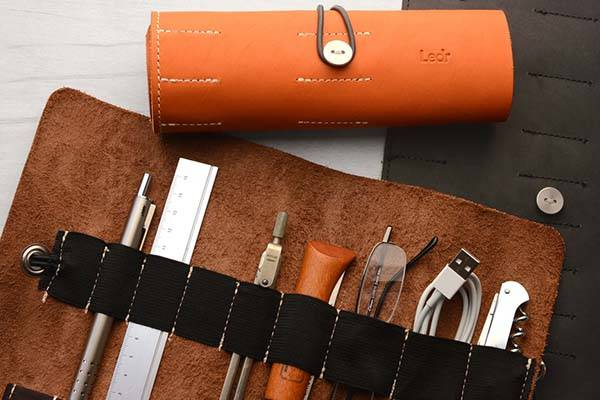 Ledr Leather Tool Roll Keeps Your Accessories Organized
