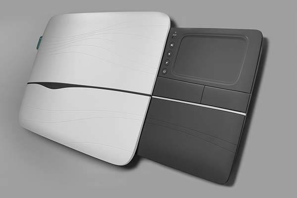 The Logitech Lapdesk with a Retractable Tray and Protective Cover