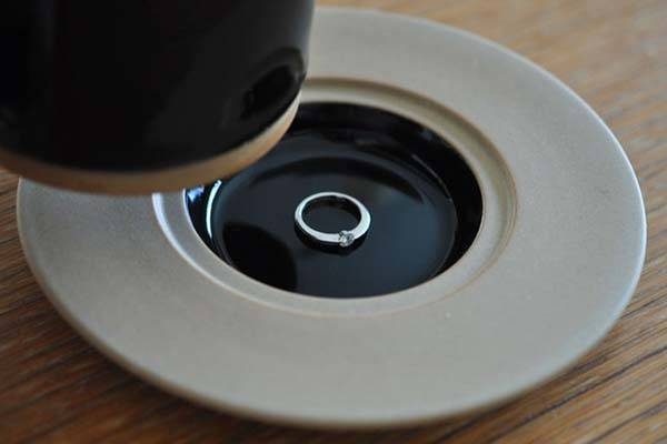 MARUHI Cup and Saucer with a Hidden Spot