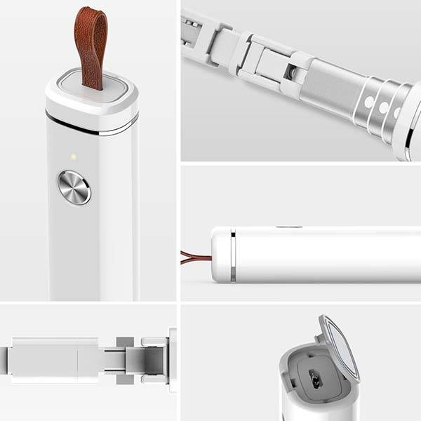 SelfieTIK Bluetooth Selfie Stick with Remote Shutter and Anti-Loss Alarm