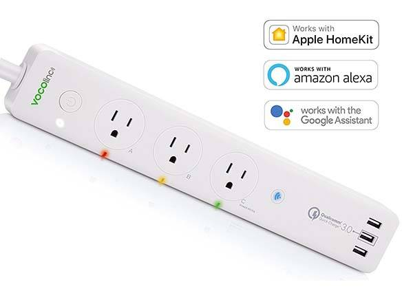 PM2 Smart Power Strip Supports Alexa, Apple HomeKit and Google Assistant
