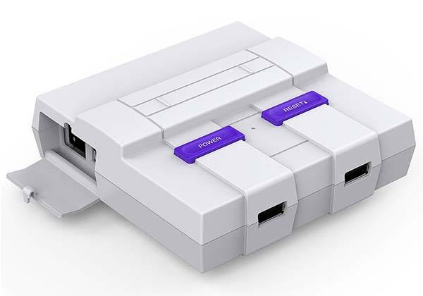 SNES Raspberry Pi Case with Two Front Facing USB Ports
