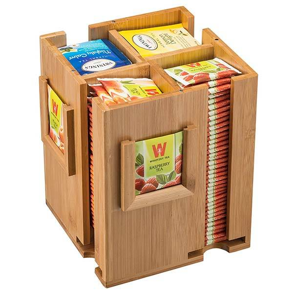 Bamboo Tea Box Holds 160 Tea Bags