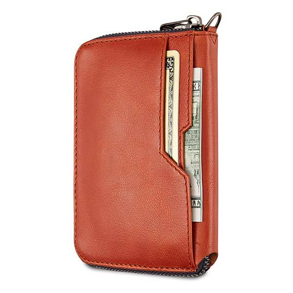 Vaultskin Notting Hill Slim Leather Zip Wallet with RFID Protection