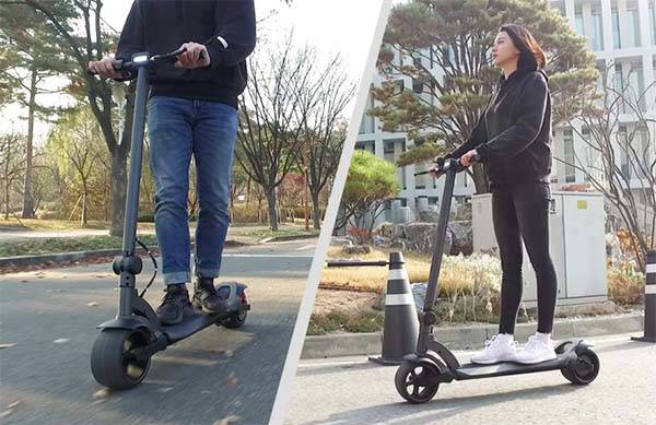 WideWheel Folding Electric Scooter with Ultra Wide Tires