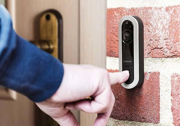 Wisenet SmartCam D1 Smart Video Doorbell with Facial Recognition