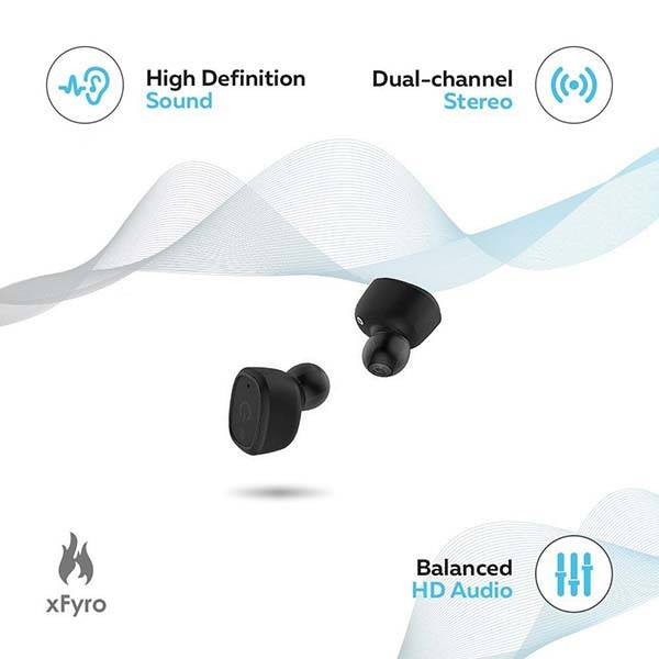 xfyro xs2 waterproof true wireless earbuds gadgetsin. Black Bedroom Furniture Sets. Home Design Ideas