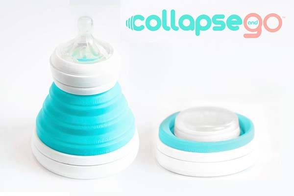 CollapseAndGo Collapsible Baby Bottle and Sippy Cup