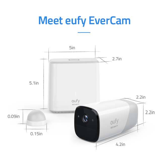 EverCam Smart WiFi Security Camera with 360-Day Battery Life