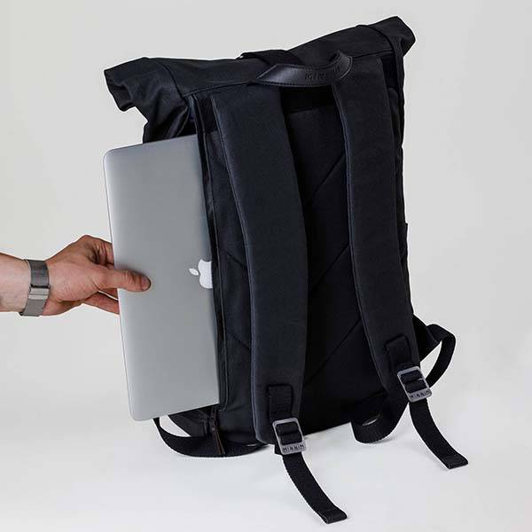 Handmade Roll Top Canvas Laptop Backpack