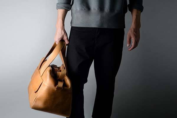 Hard Graft Overhand Leather Holdall Bag