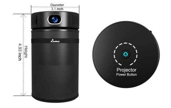 Lumes Portable Smart Projector with Detachable Bluetooth Speaker