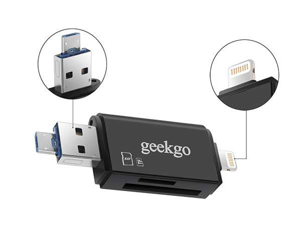 The Memory Card Reader Supports Smartphones, Tablets and Computers