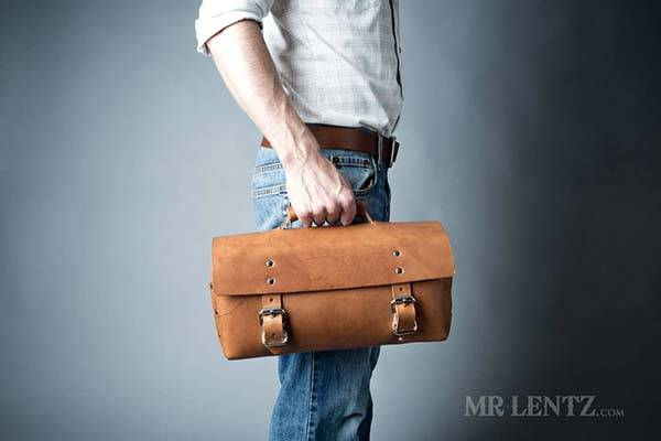Mens Leather Bag For Golf Shoes