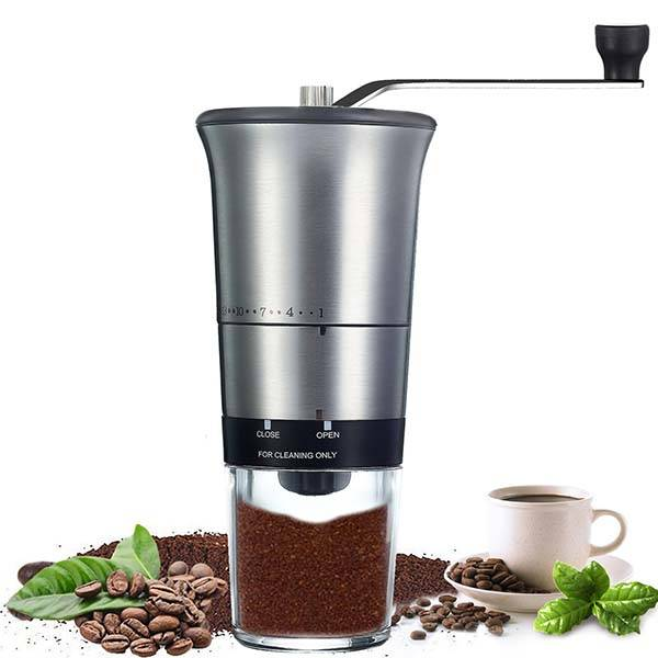 QcoQce Portable Manual Coffee Grinder