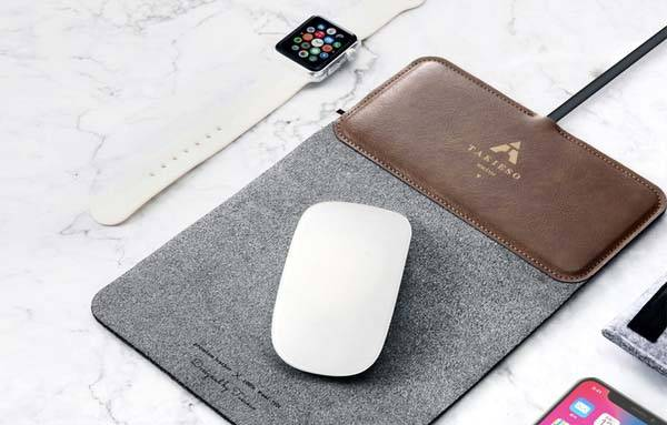 Takieso MousePad+ Mouse Pad with Wireless Charger