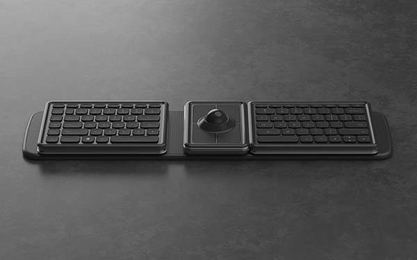 The Ergonomic Wireless Keyboard with Detachable Trackball