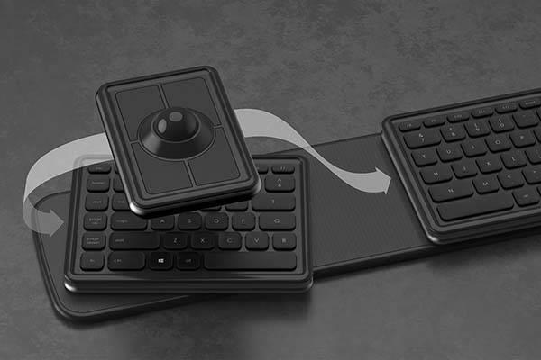 The Ergonomic Wireless Keyboard With Detachable Trackball